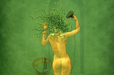 Medusa Pictures - Medusa and the Hairdryer