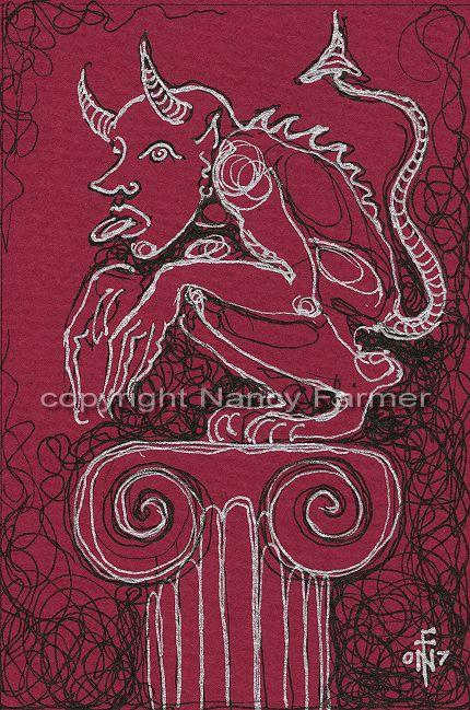 Permanent Sketch Book: Permanent Sketch 4: Gargoyle On A Pillar 1