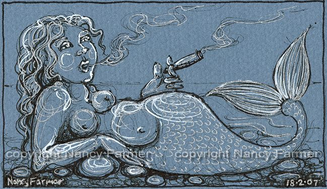 Permanent Sketch Book: Permanent Sketch 15: Mermaid With A Fat Cigar