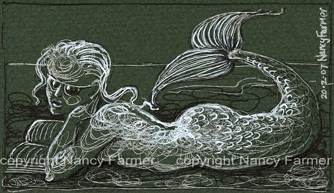 Permanent Sketch Book: Permanent Sketch 31: Mermaid With A Book