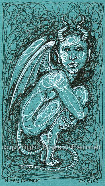 Permanent Sketch Book: Permanent Sketch 36: Blue Crouching Demon