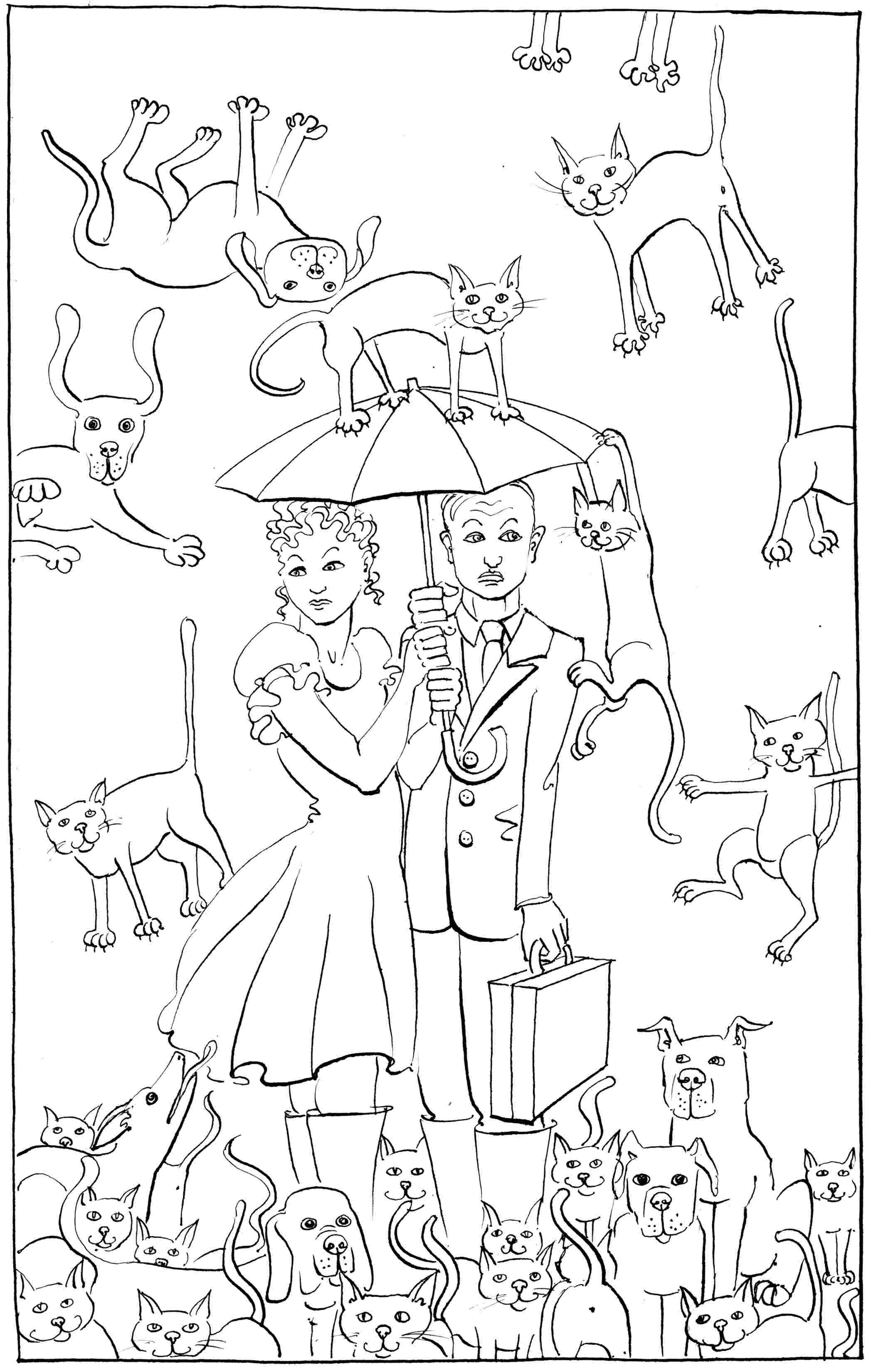 Cats And Dogs Drawings Raining Cats And Dogs