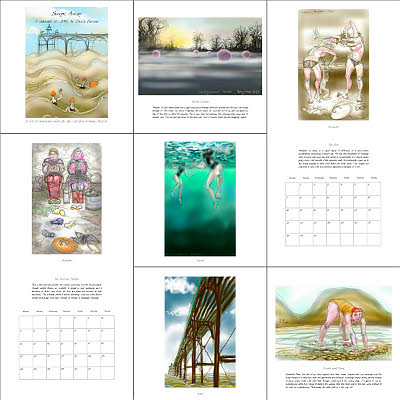 'Swimming drawings' from the 2016 Calendar