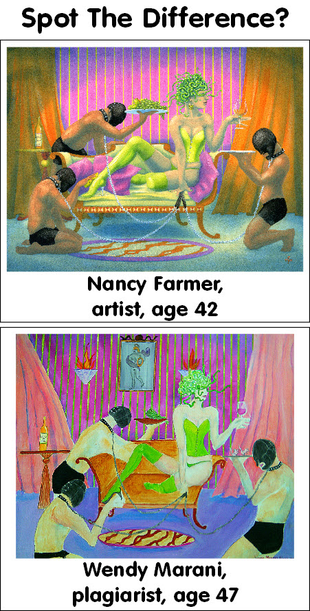 Painting by Nancy Farmer, plagiarism by Wendy Marani 1